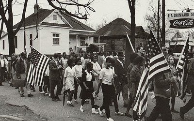 Participants at a Civil Rights March from Selma to Montgomery, Alabama, 1965