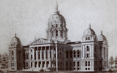 Architect's Drawing of the Iowa State Capitol, ca. 1880