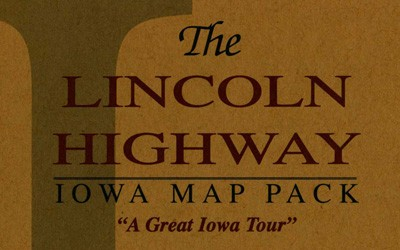 A map pack that outlines an Iowa tour of the Lincoln Highway.