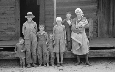Family Living on Natchez Trace Project near Lexington, Tennessee, March 1936