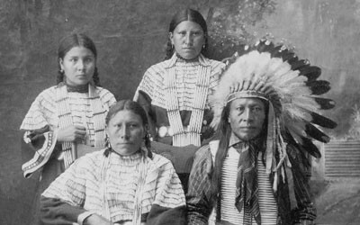 Sioux Family from Rosebud Indian Reservation in South Dakota, 1910