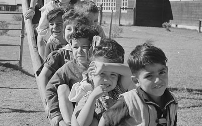 Nursery School Children on the Playground at Robstown Camp in Texas, January 1942