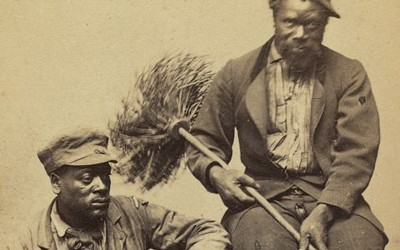 """""""Occupational Portrait of Two African American Chimney Sweeps,"""" between 1860 and 1870"""