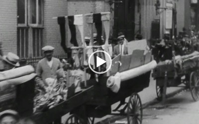 Push Cart Vendors on the East Side of New York, New York, 1900