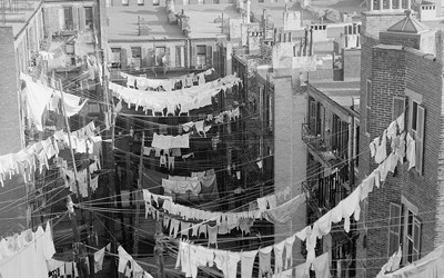 Tenement Yard in New York, New York, between 1900 and 1910