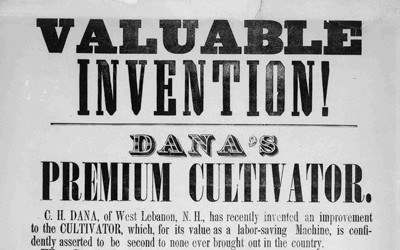 This document from 1855 is an advertisement for a new cultivator with numerous testimonials from farmers as to its value as an agricultural tool.