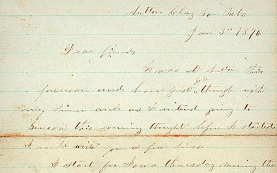 The Giles S. Thomas family letters were written between 1862 - 1912.  Thomas settled in Nebraska and travelled through Iowa.