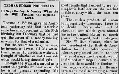"""Thomas Edison Prophesies,"" July 10, 1907"