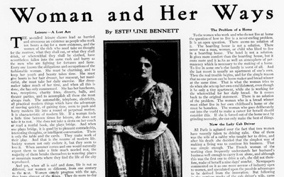 """Woman and Her Ways,"" January 10, 1907"