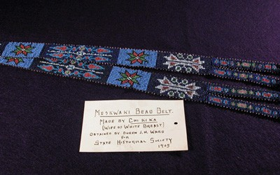 Meskwaki Bead Belt Made by Chi Ki Ka, 1905