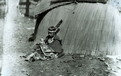 Meskwaki Girl and Her Doll, 1925
