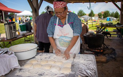 Meskwaki Frybread, July 10, 2019