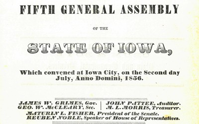 Document stating Meskwaki could purchase land and stay in Iowa.