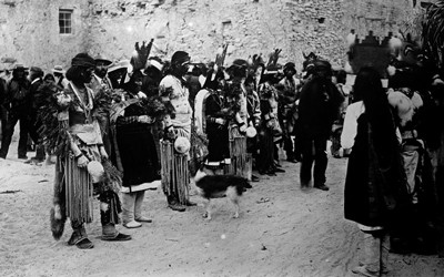 Hopi Native Americans in the southwestern part of the United States.