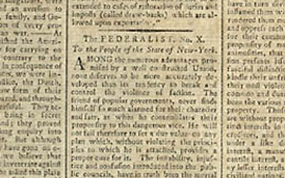 James Madison wrote Federalist No. 10 to convince the people of New York to ratify the proposed Federal Constitution by saying that it would guard against the negative effects of factions.