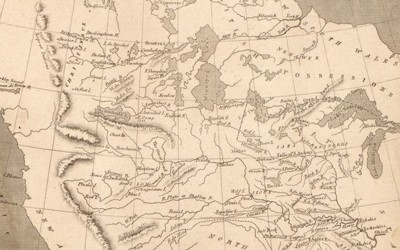 The 1805 map shows the Louisiana Territory next to the United States separated by the Mississippi River.