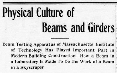 """Physical Culture of Beams and Girders,"" May 12, 1904"