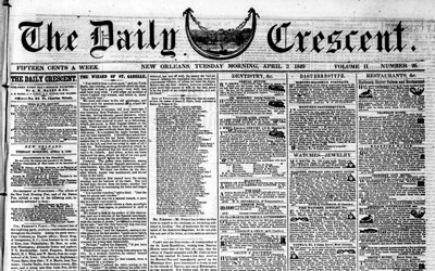 This newspaper article from 1849 announces the ruling in the Supreme Court case that determined Iowa's southern border.