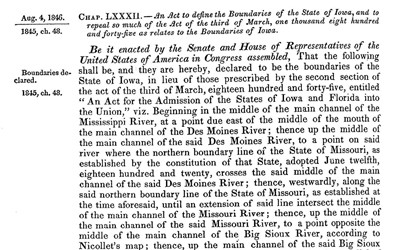 This Act of Congress sought to resolve the conflict between the Territory of Iowa and the State of Missouri by referring the problem to the Supreme Court for a final resolution.
