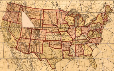This is a jigsaw puzzle of the United States that is referred to as a dissected map.