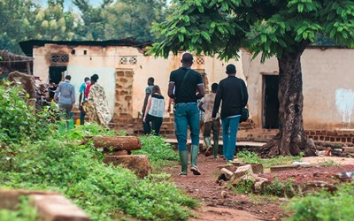 Article about how Fair Trade community funds in Cote d'Ivoire are being used to build schools and stock them with school supplies.