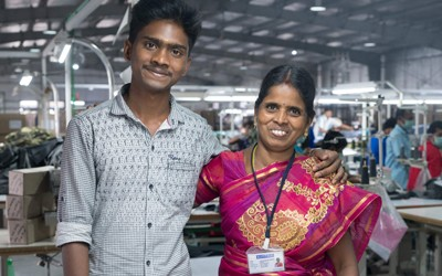 Latha and Gautam, Mother and Son in Tirrupur