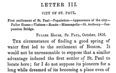 This publication is series of letters written by Christopher Andrews as he traveled from east to west across the United States.