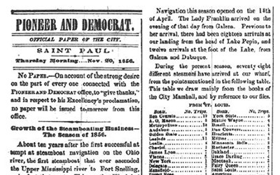 Article about the steamboat industry in 1856.