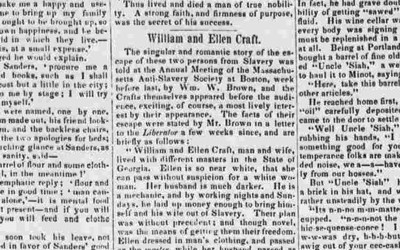 the article from Anti-slavery bugle newspaper from New Lisbon, Ohio