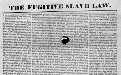 The Fugitive Slave Law of 1850 made it illegal for anyone in the north to assist fugitive slaves in their escape for freedom.