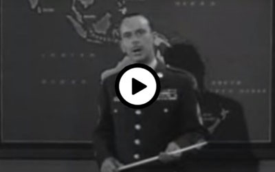 Two minutes of a news-like series explaining the Cold War.