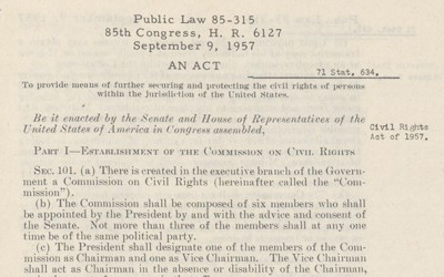 The Civil Rights Act authorized the prosecution for those who violated the right to vote for United States citizens.