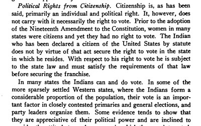 """""""The Problem of Indian Administration; Report of a Survey Made at the Request of Honorable Hubert Work, Secretary of the Interior, and Submitted to Him, February 21, 1928."""""""
