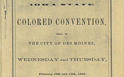 """Speech by Alexander Clark at the """"Colored Convention"""" in Des Moines."""