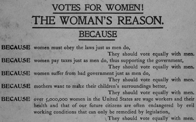 Right To Vote Suffrage For Women African Americans And American  In This  Broadside Published In New York City By The National American Woman  Suffrage Association Proposal Essay Sample also Essay Paper Writing Services  Persuasive Essay Ideas For High School