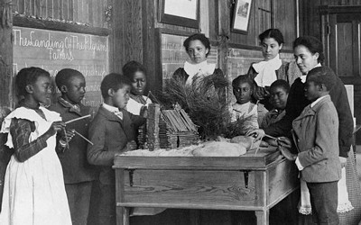 Teacher and Students at Whittier Primary School in Hampton, Virginia, ca. 1899