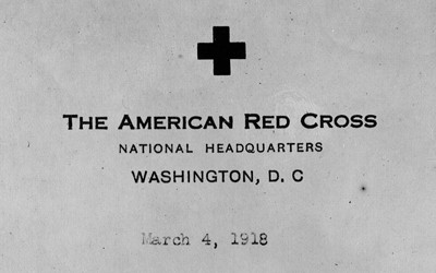 Copy of a letter from the Chairman of the American Red Cross to Mr. Herbert Hoover, Chairman, Commission for Relief of Belgium, written in March of 1918.