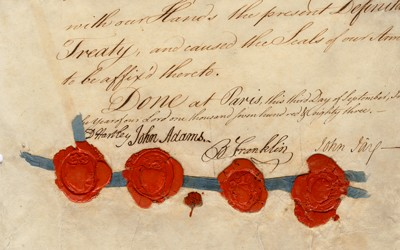 The Treaty of Paris, 1783 officially ended the Revolutionary War and established the boundaries of the United States.
