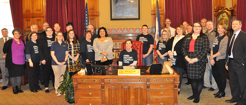 Photo of Governors Proclamation of Iowa History Month