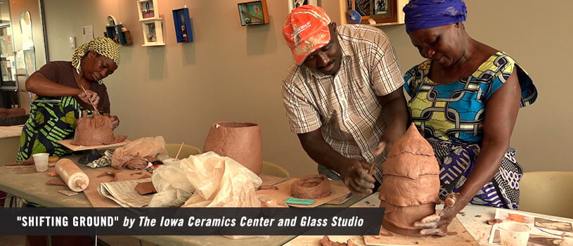 """Shifting Ground"" by The Iowa Ceramics Center and Glass Studio"