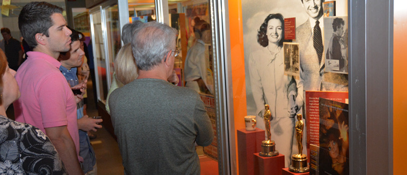 Adult group tours the State Historical Museum of Iowa