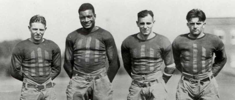 Jack Trice with Iowa State football players