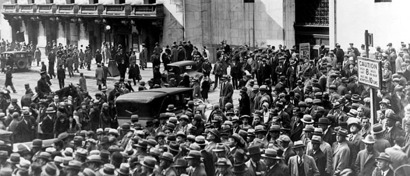 Crowds Outside New York Stock Exchange, 1929