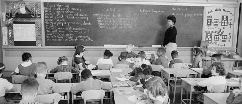 A desegregated classroom in Washington, D.C., on December 15, 1964.