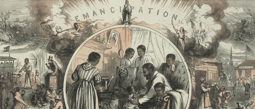 Lincoln and Emancipation Print by Thomas Nast