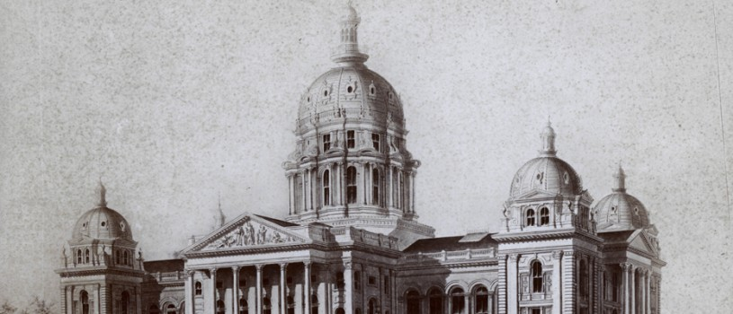 Architect's Drawing of the Iowa State Capitol, ca. 1880 (Image)