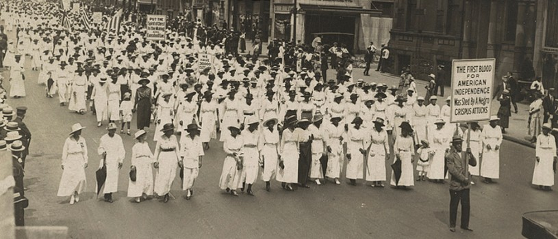 Silent Protest Parade in New York City Against the East St. Louis Riots, July 28, 1917