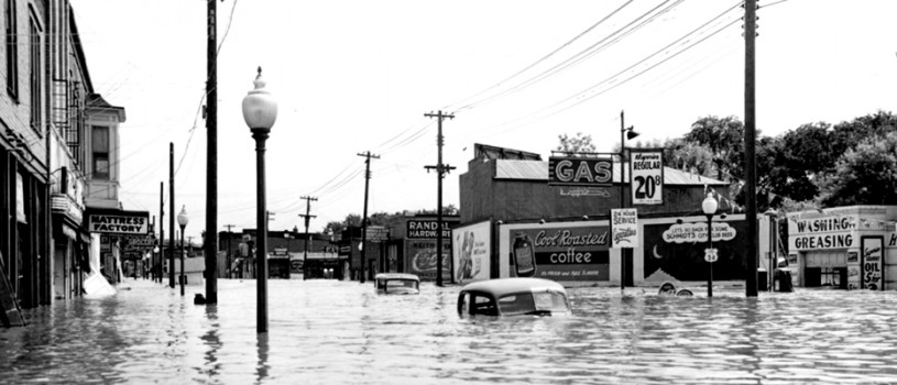 Flooded Street in Ottumwa, Iowa;  June, 1947