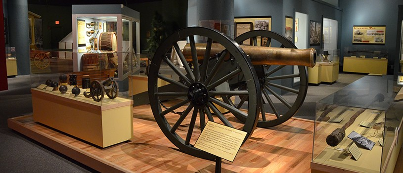 Civil War Era Cannon Exhibit in Museum