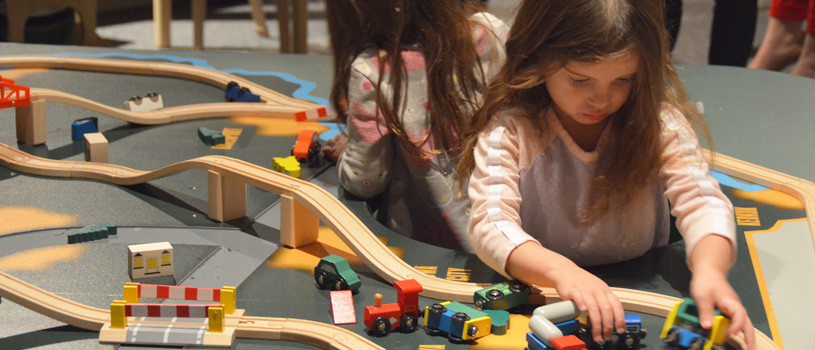 Children playing in the Hands-On History gallery